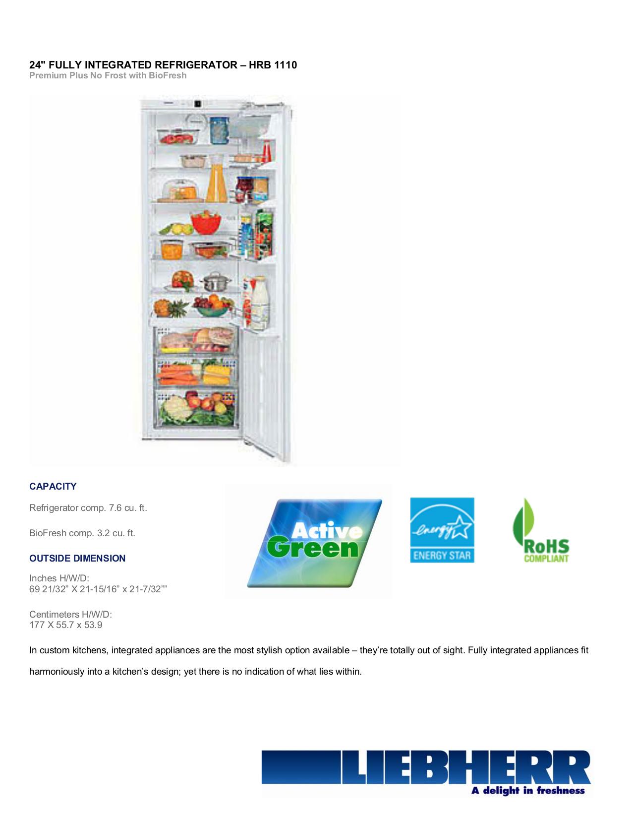 Download free pdf for Liebherr HC 1050 Refrigerator manual