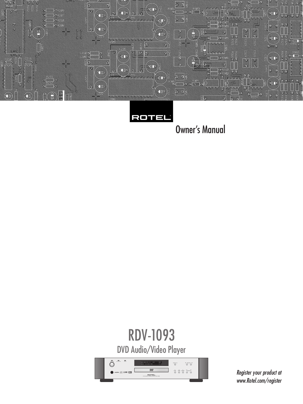 pdf for Rotel Amp RSP-1068 manual