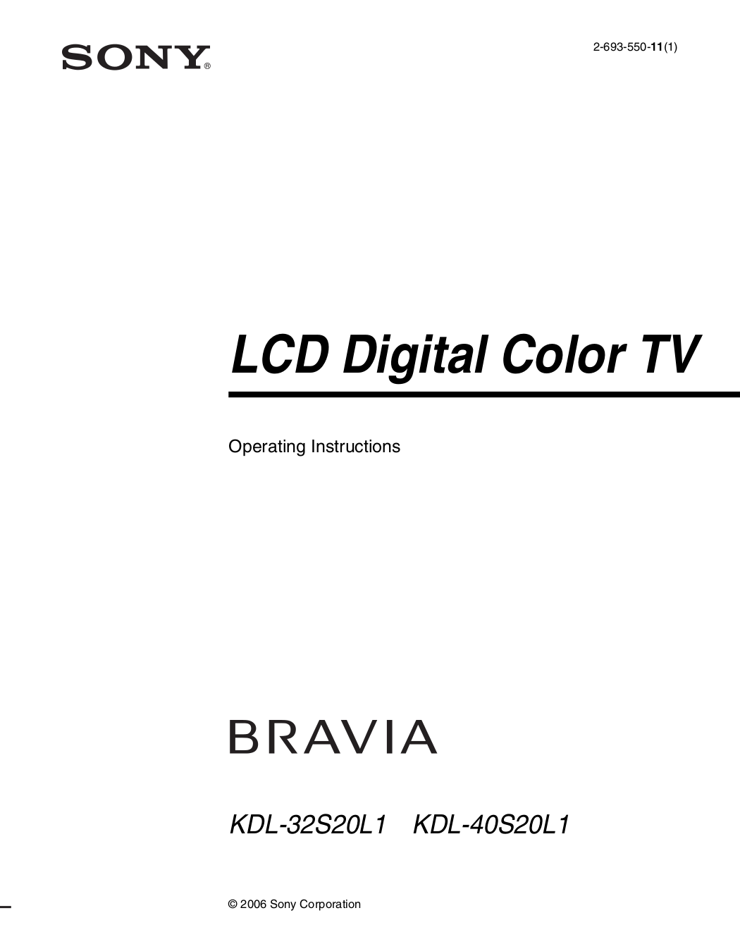 Sony Bravia Hdtv User Manual Pdf