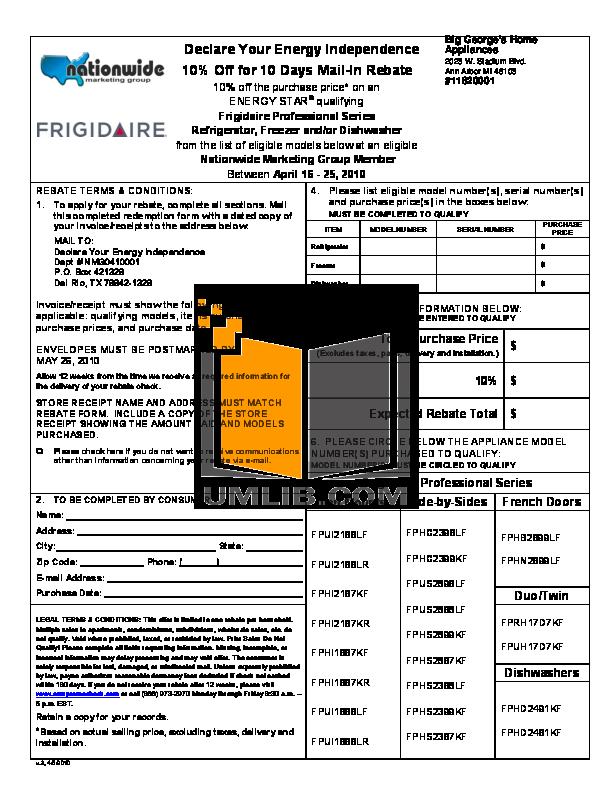 pdf for Frigidaire Refrigerator Professional FPUI2188LF manual