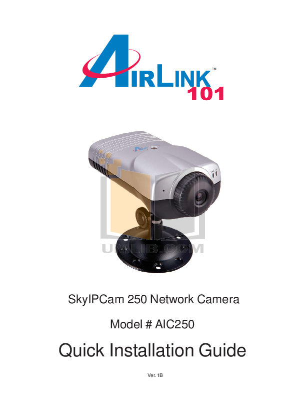 pdf for Airlink Other AIC250 Webcams manual