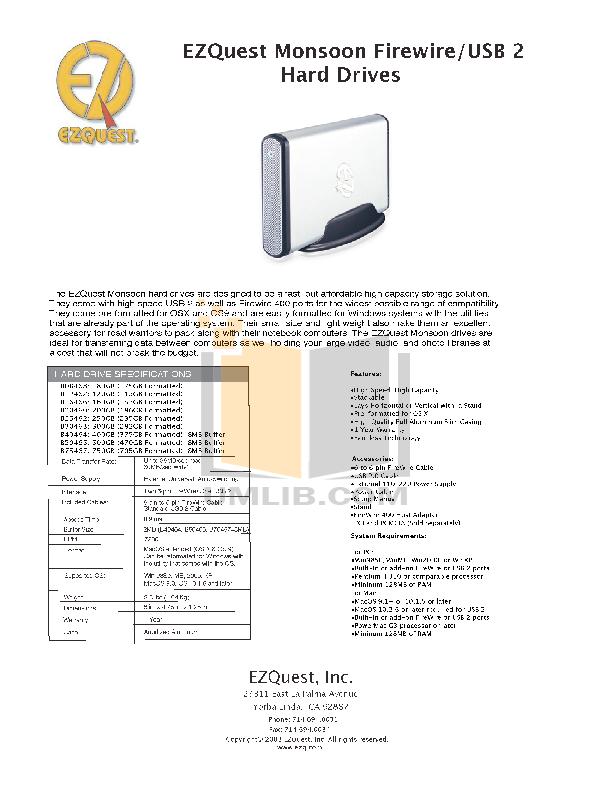 pdf for Ezquest Storage Monsoon B50465 manual