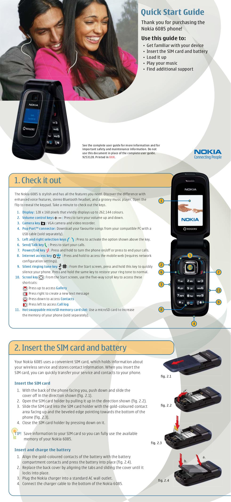 Nokia 6085 схема