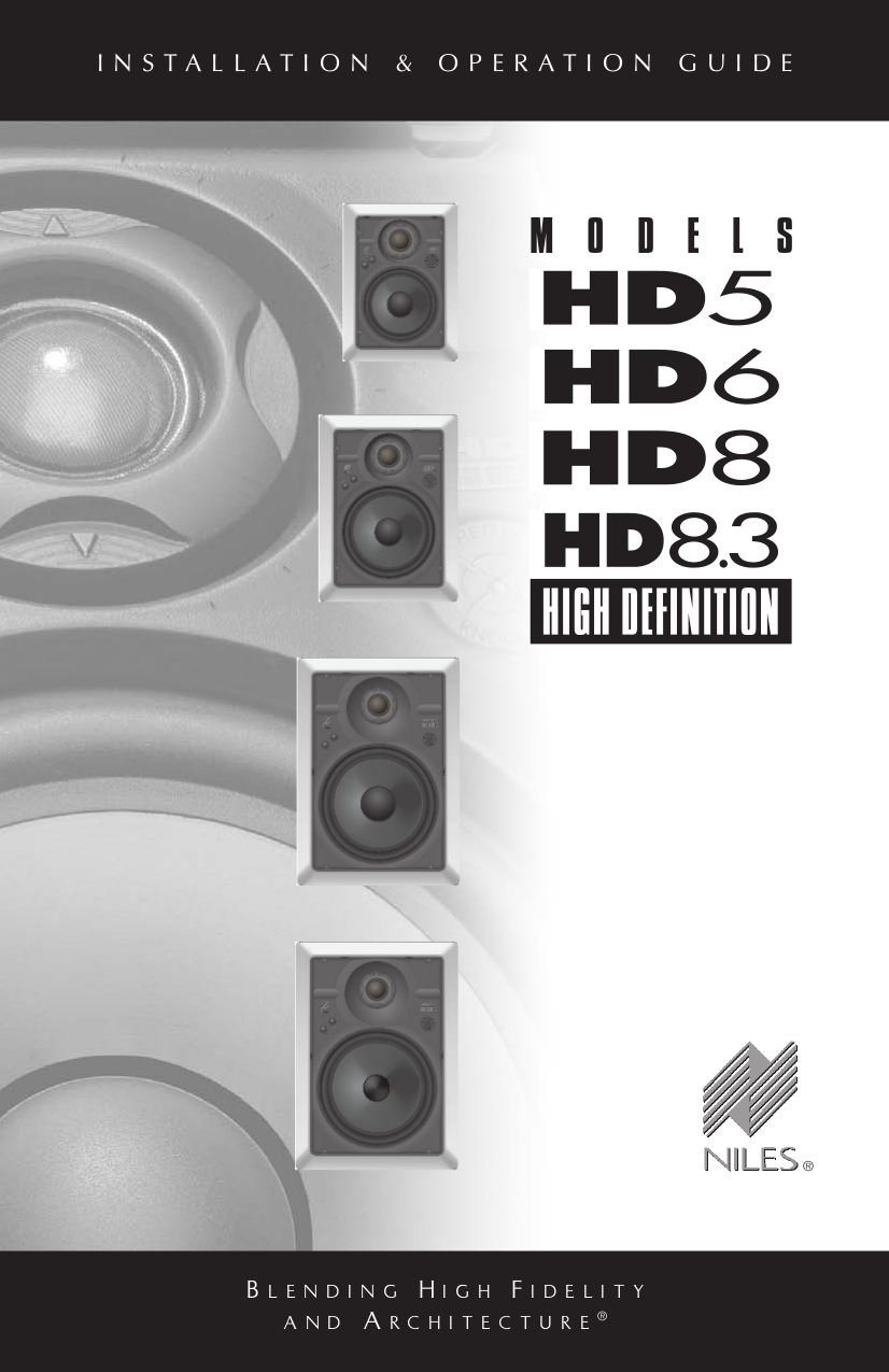 pdf for Niles Speaker HD8.3R manual