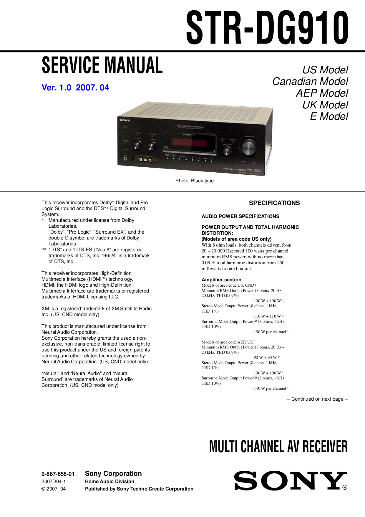 download free pdf for sony str dg910 receiver manual rh umlib com sony str dg920 manual Sony STR Dg910 7 1