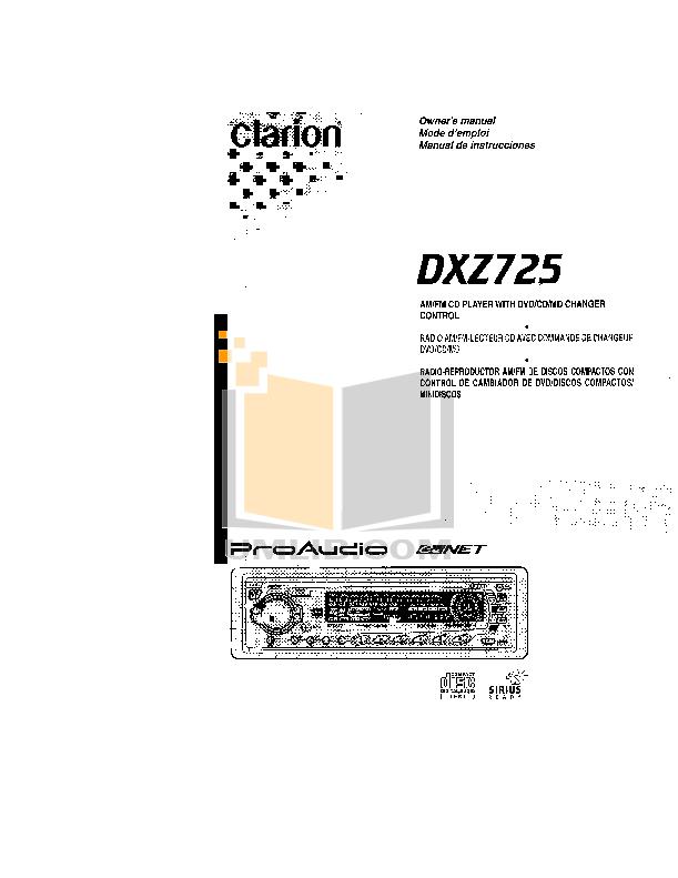 download free pdf for clarion dxz725 car receiver manual rh umlib com