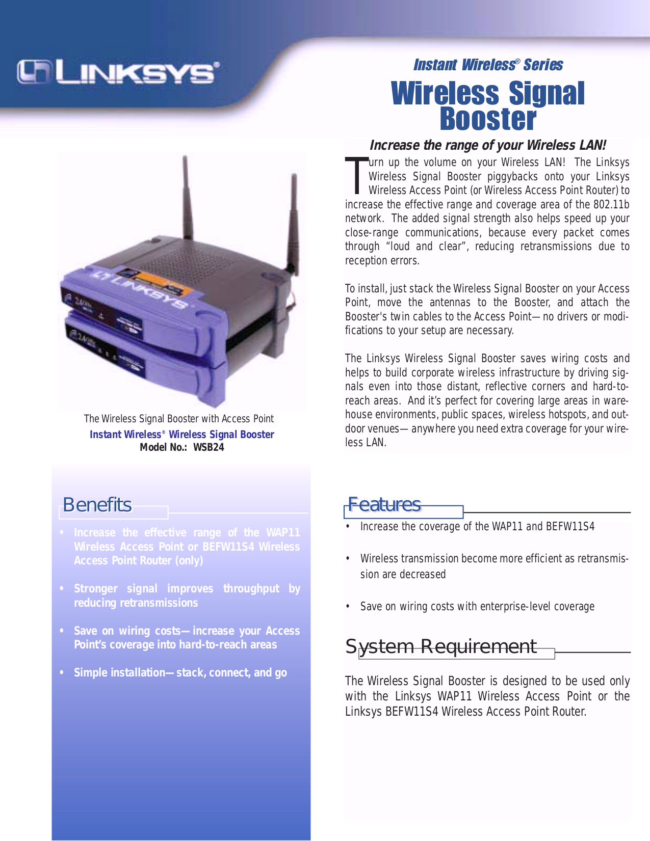 pdf for Linksys Wireless Router BEFW11S4 manual
