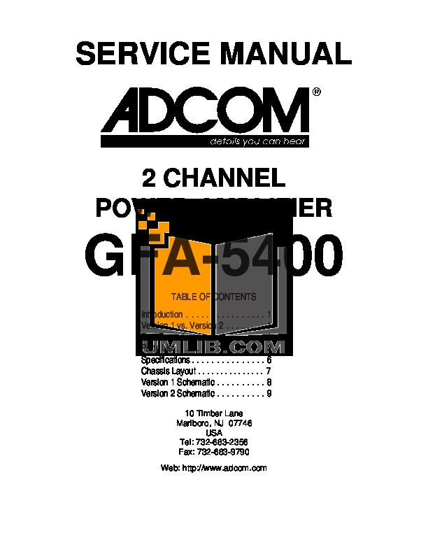 download free pdf for adcom gfa 5400 amp manual rh umlib com Adcom GFA- 5802 Adcom GFA- 5802