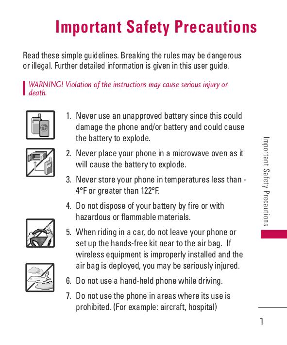 download free pdf for lg 285 cell phone manual rh umlib com LG Optimus Operating Manual Sprint LG User Guide