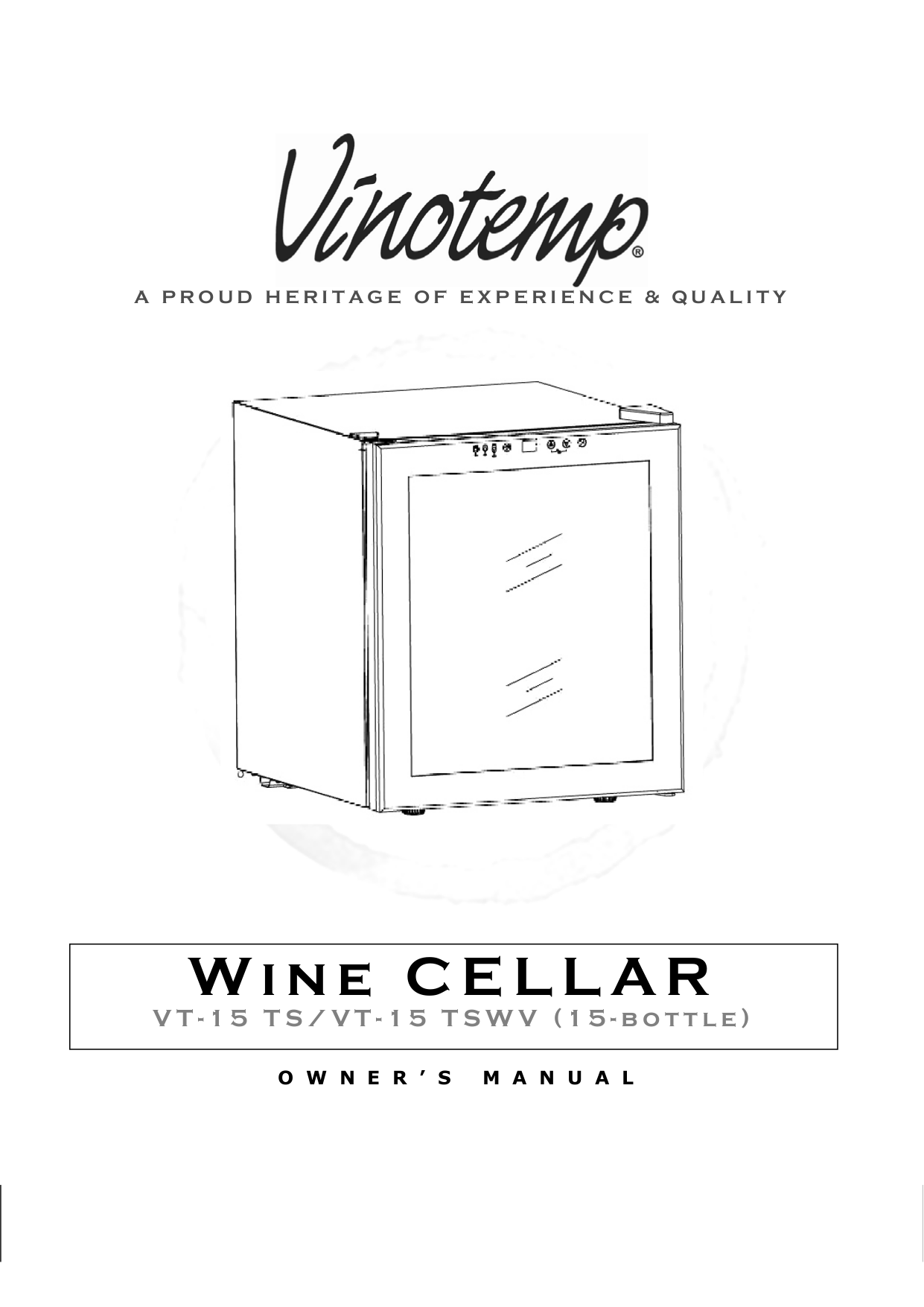 pdf for Vinotemp Refrigerator VT-24 manual