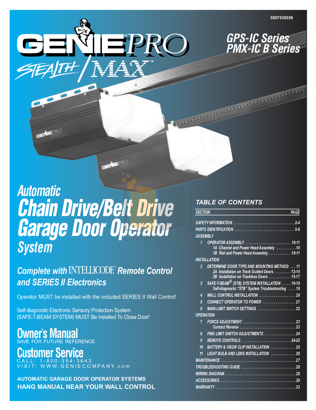 Download Free Pdf For Genie Promax Garage Door Opener Other Manual