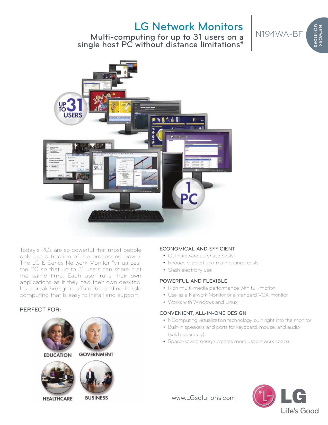 pdf for LG Monitor N194WA manual