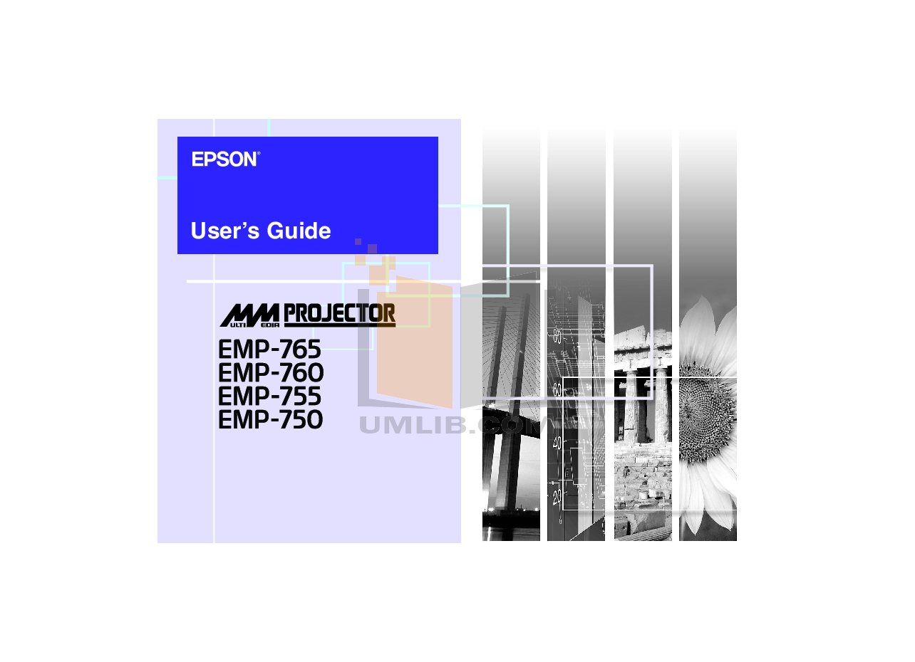 pdf for Epson Projector EMP-810 manual