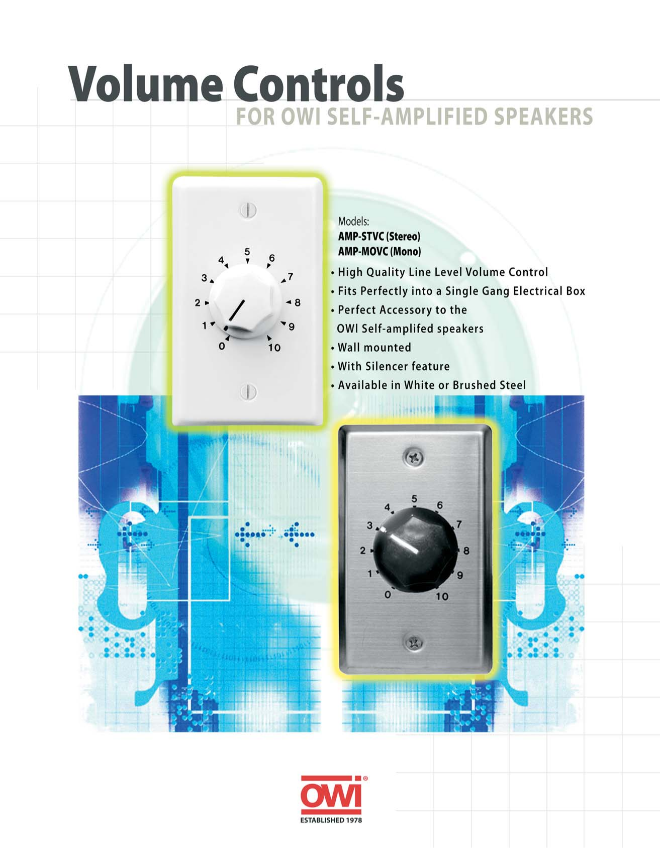 pdf for Owi Speaker AMP-MOVC manual