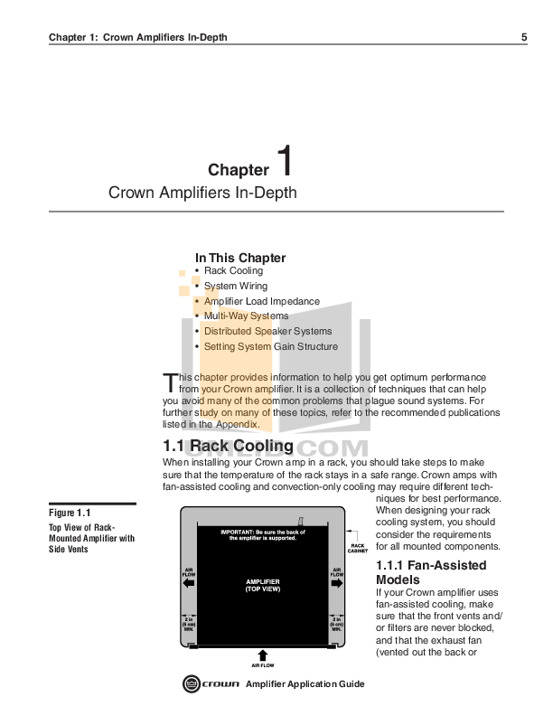Crown Other PIP-AF Input Processors pdf page preview