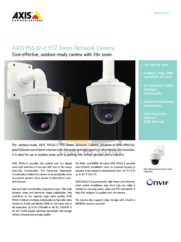 pdf for Axis Security Camera P5532 manual