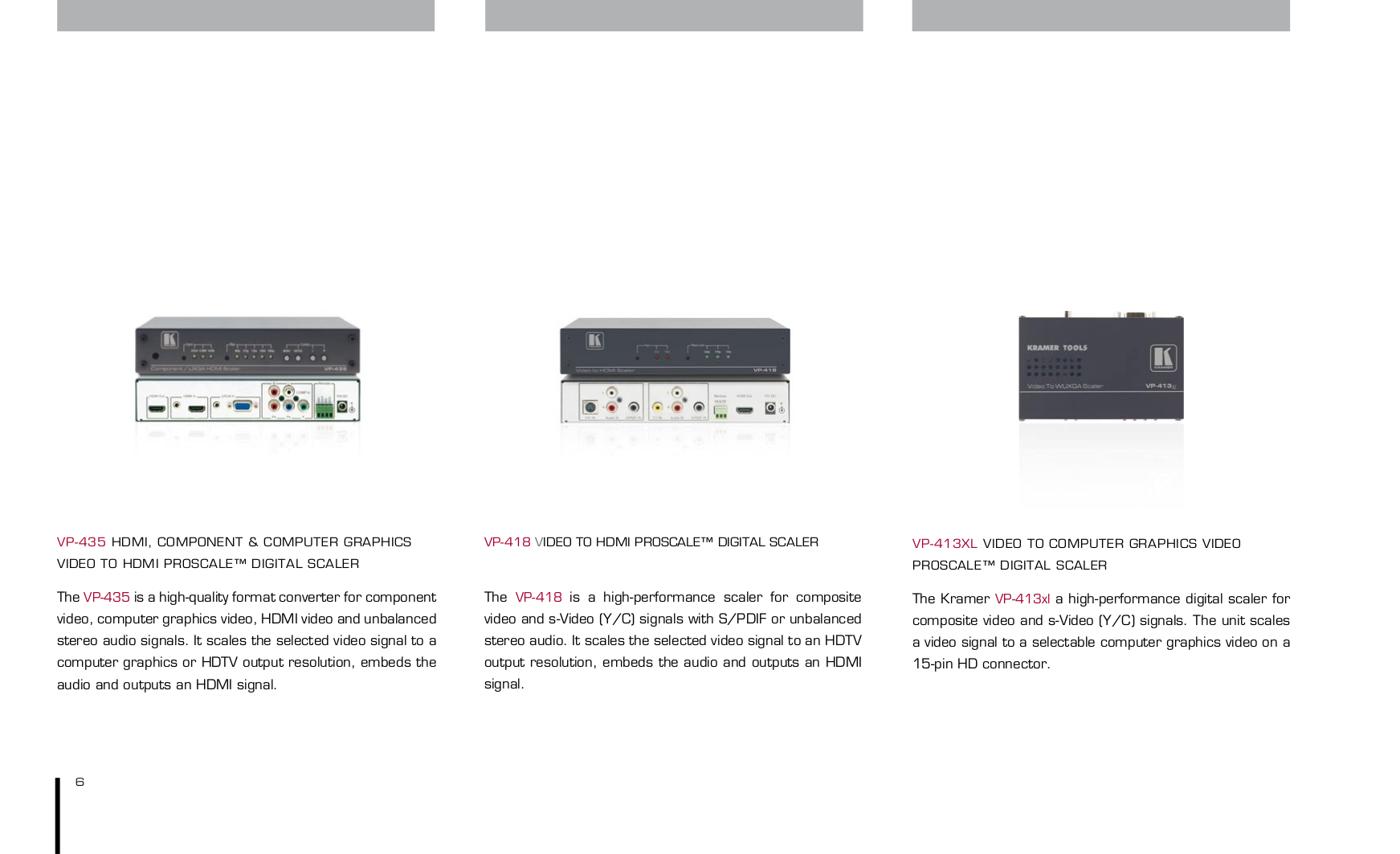 ... Kramer Other VM-312 Distribution Amplifiers pdf page preview