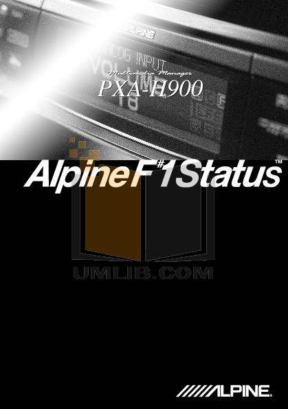 pdf for Alpine Car Video DVA-5205 manual
