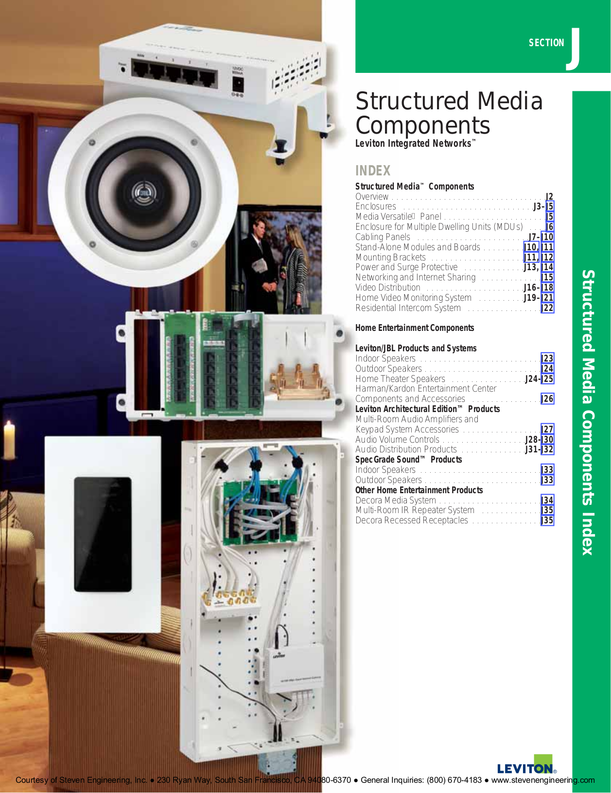 Download Free Pdf For Leviton Aess5 Speaker Manual Structured Wiring Panel