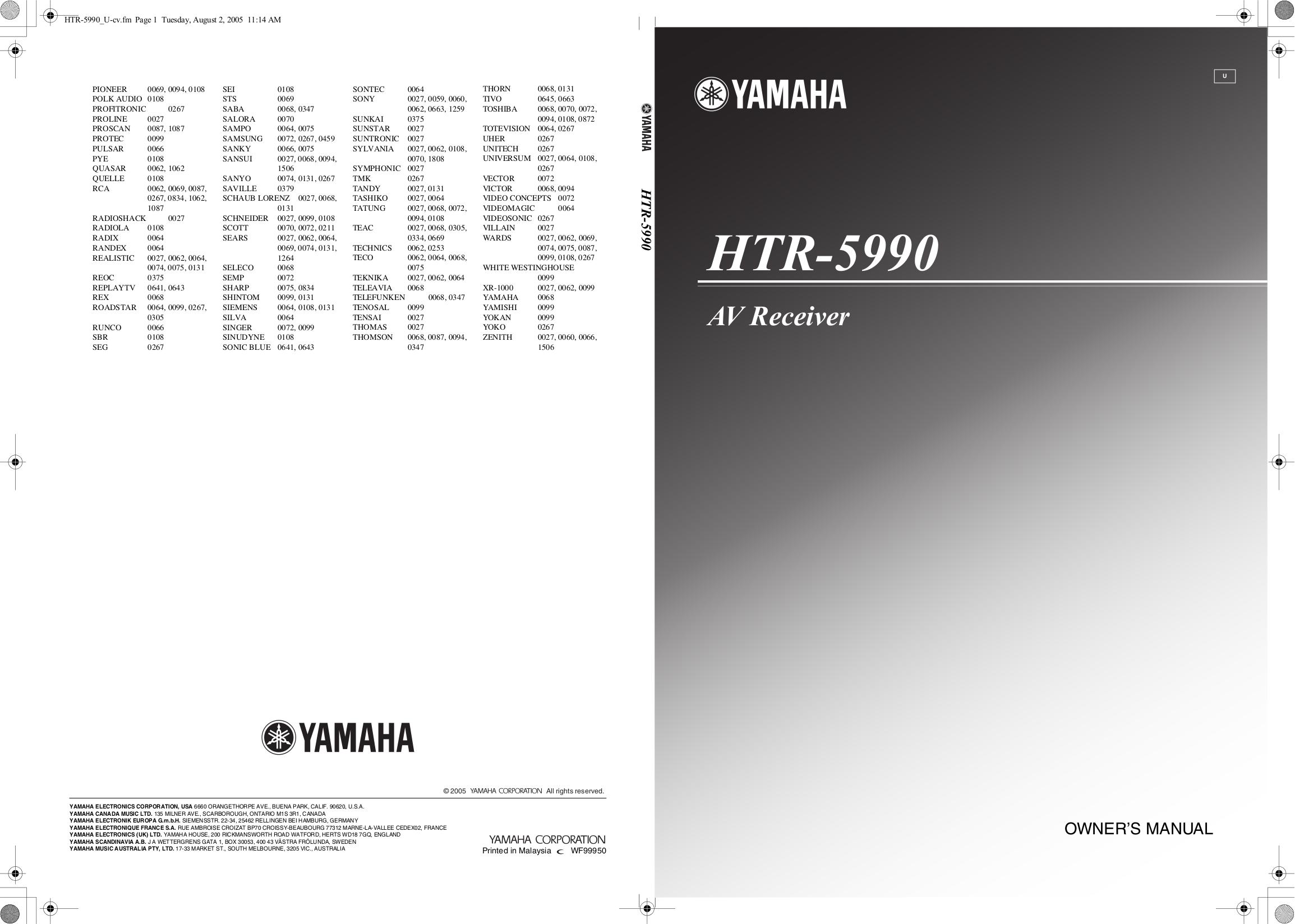 download free pdf for yamaha htr 5990 receiver manual rh umlib com Yamaha Receiver HTR-5990 Yamaha RX V773wabl