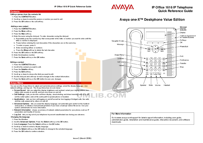 Avaya Owners Manual Product User Guide Instruction