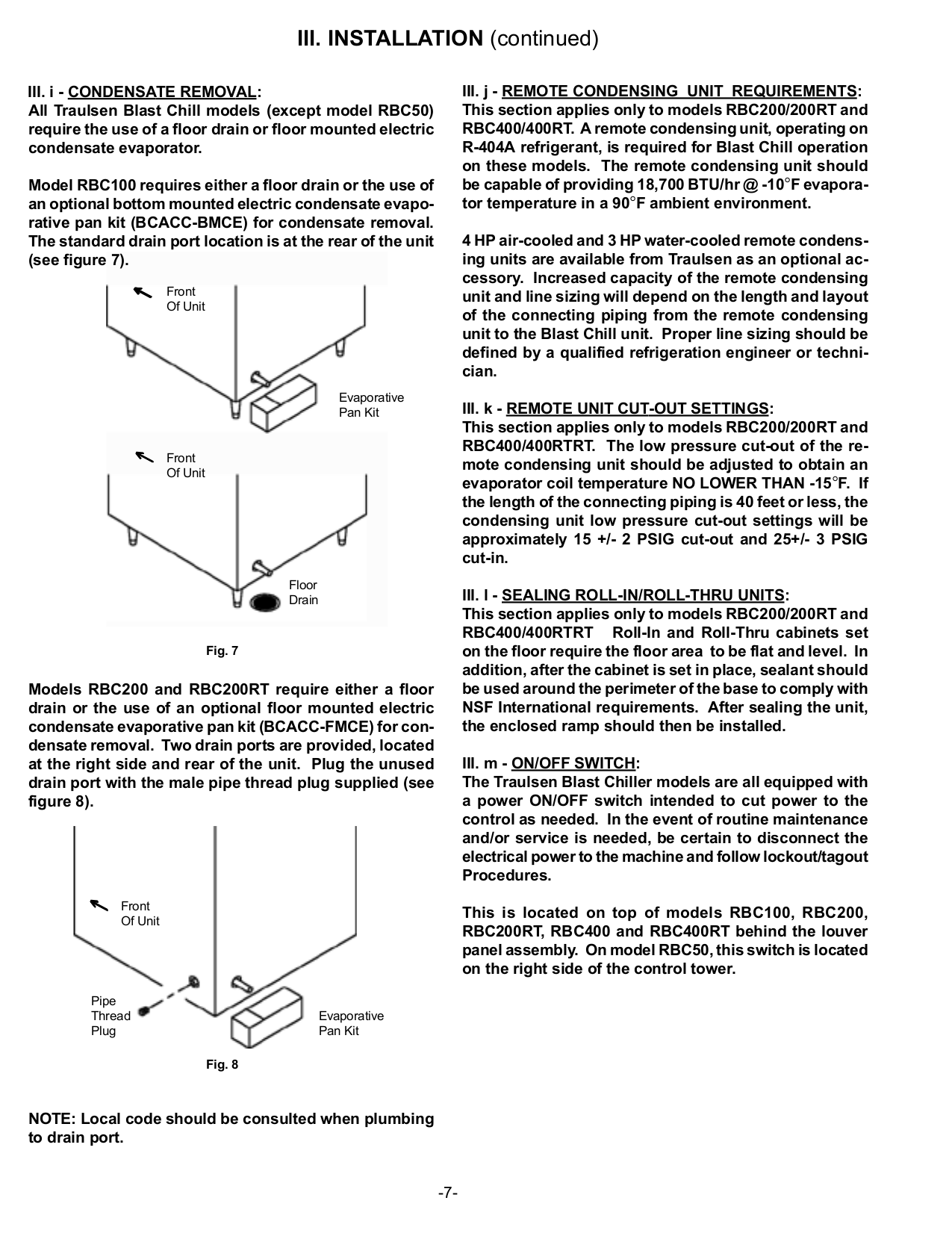 Pdf Manual For Traulsen Refrigerator Rbc200 Piping Layout
