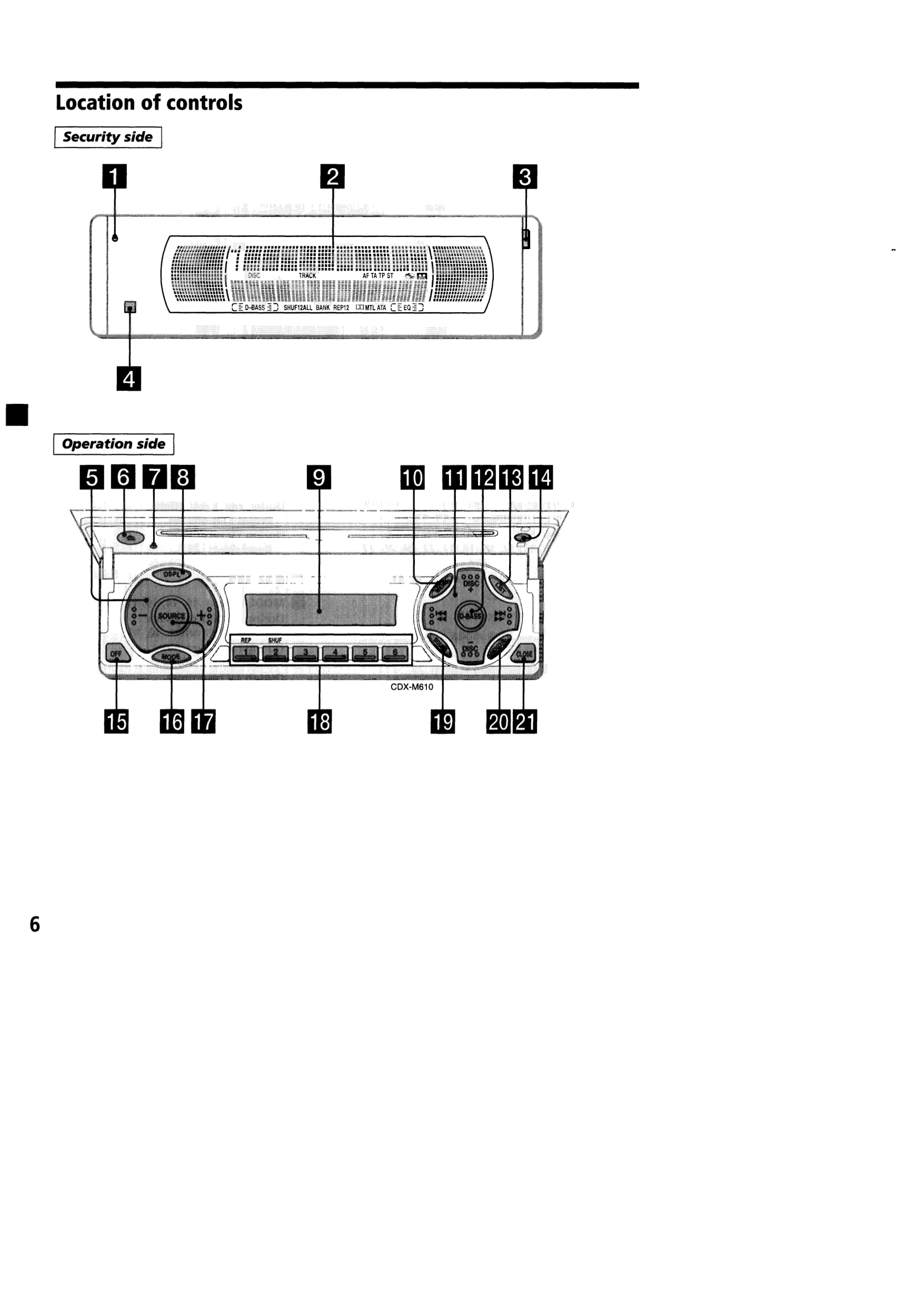 Pdf Manual For Sony Car Receiver Cdx M610 Wiring Diagram Page Preview