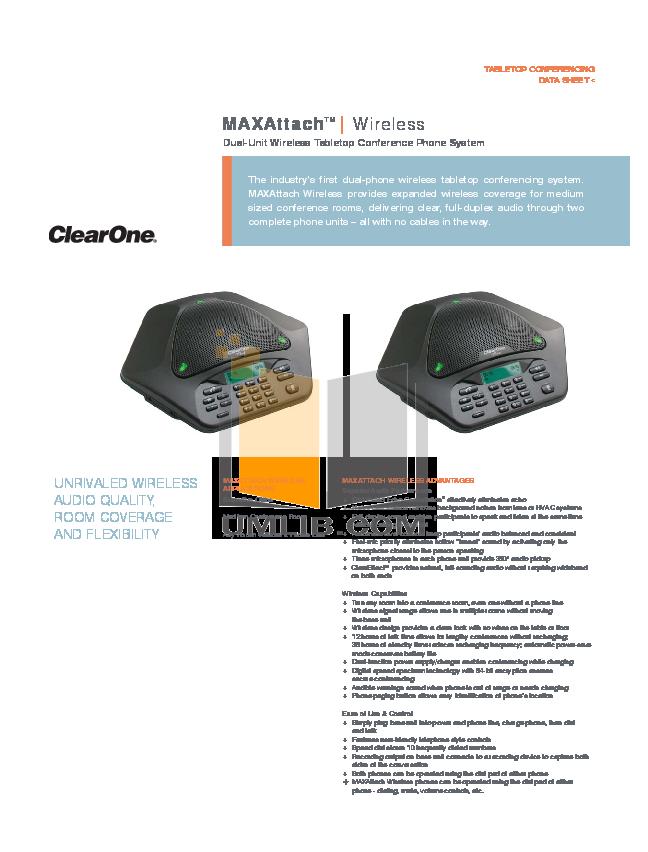 pdf for ClearOne Telephone MAXAttach manual