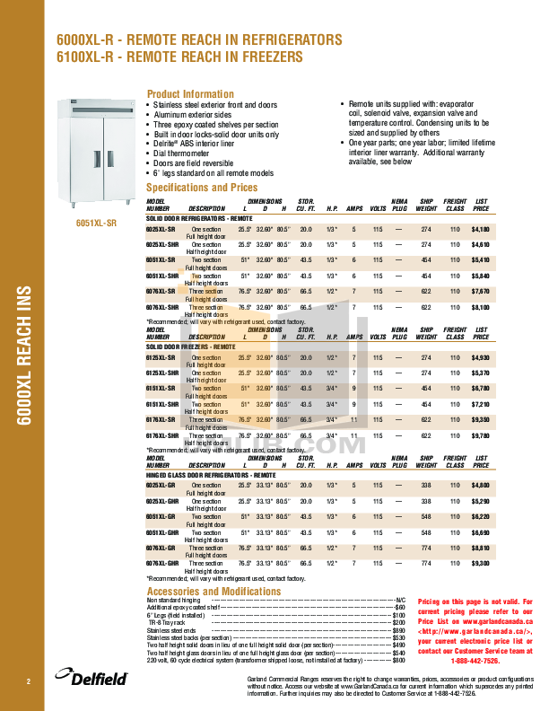 Delfield Other F14EI688 Hot Food Table pdf page preview