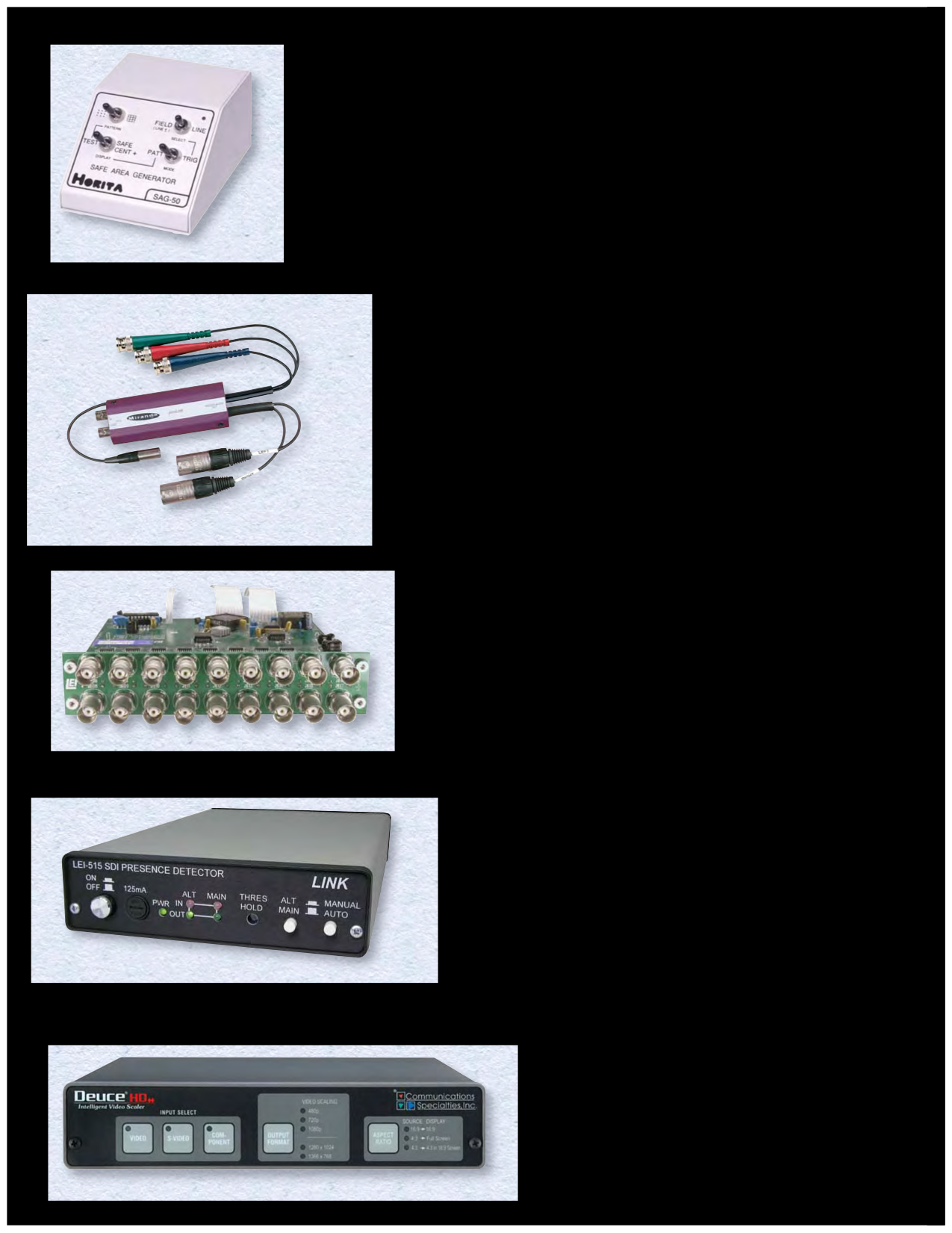 pdf for Kramer Other VM-50AN Distribution Amplifiers manual