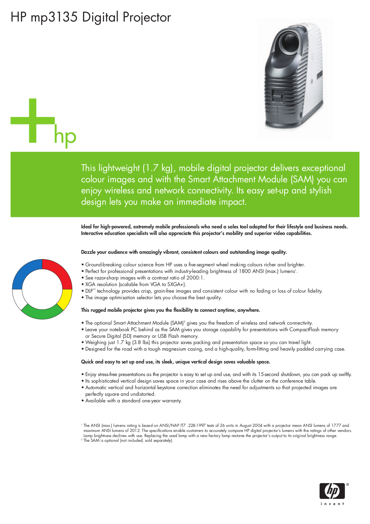 Download free pdf for hp mp3135 projector manual.