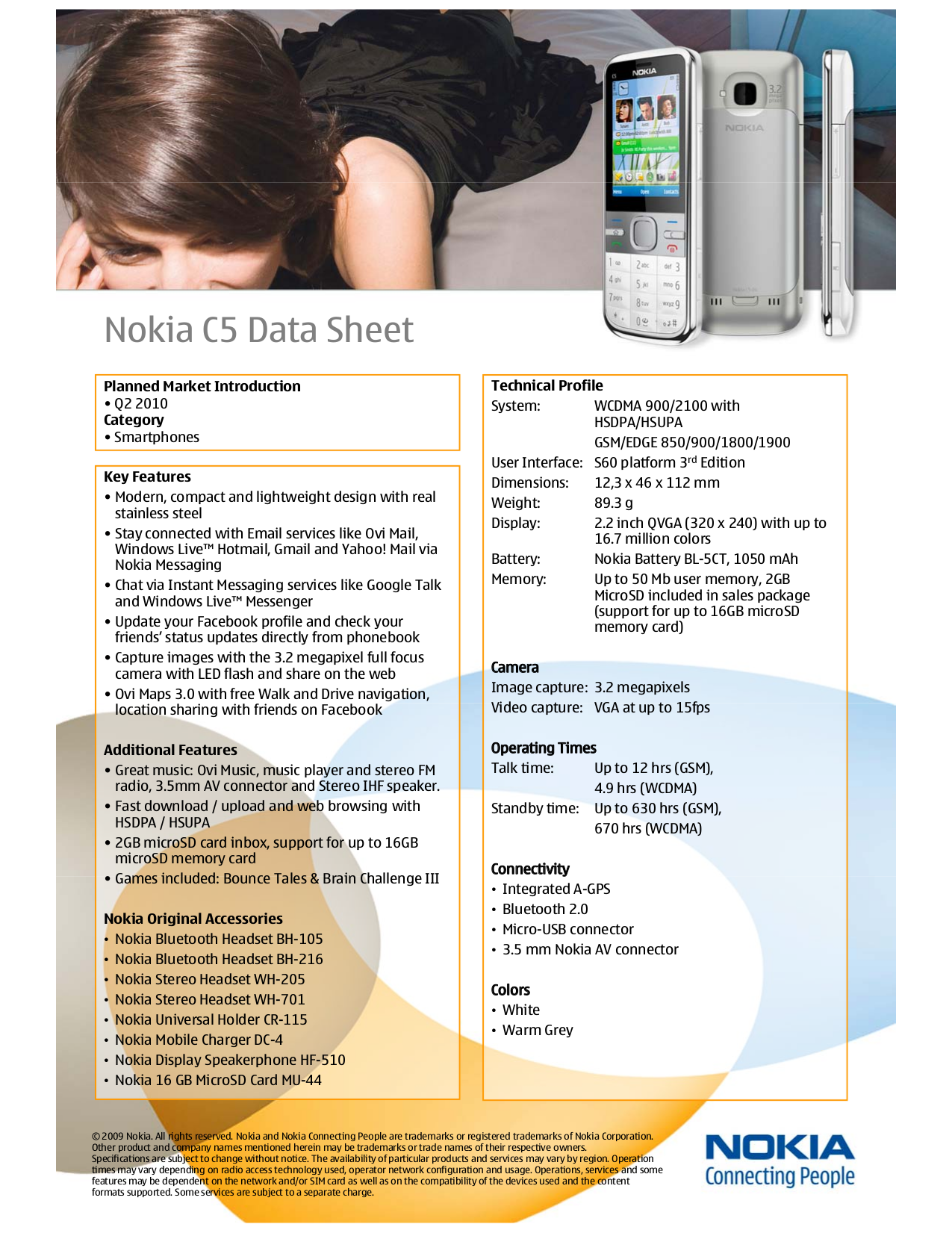 pdf for Nokia Headset BH-105 manual