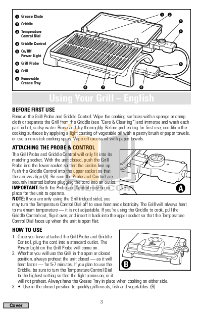 BlackAndDecker Grill IG200 pdf page preview