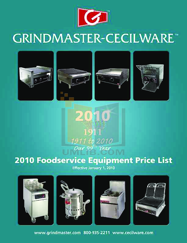 pdf for Cecilware Other EMIFGS-120 Griddles manual