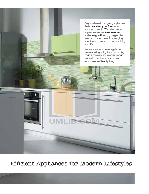 Fagor Dishwasher LFA-013 pdf page preview