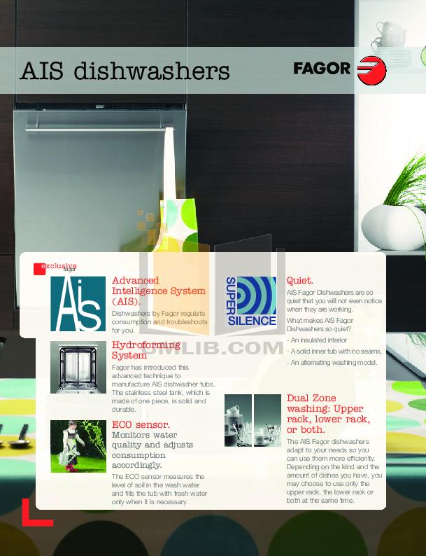 pdf for Fagor Dishwasher LFA-013 manual