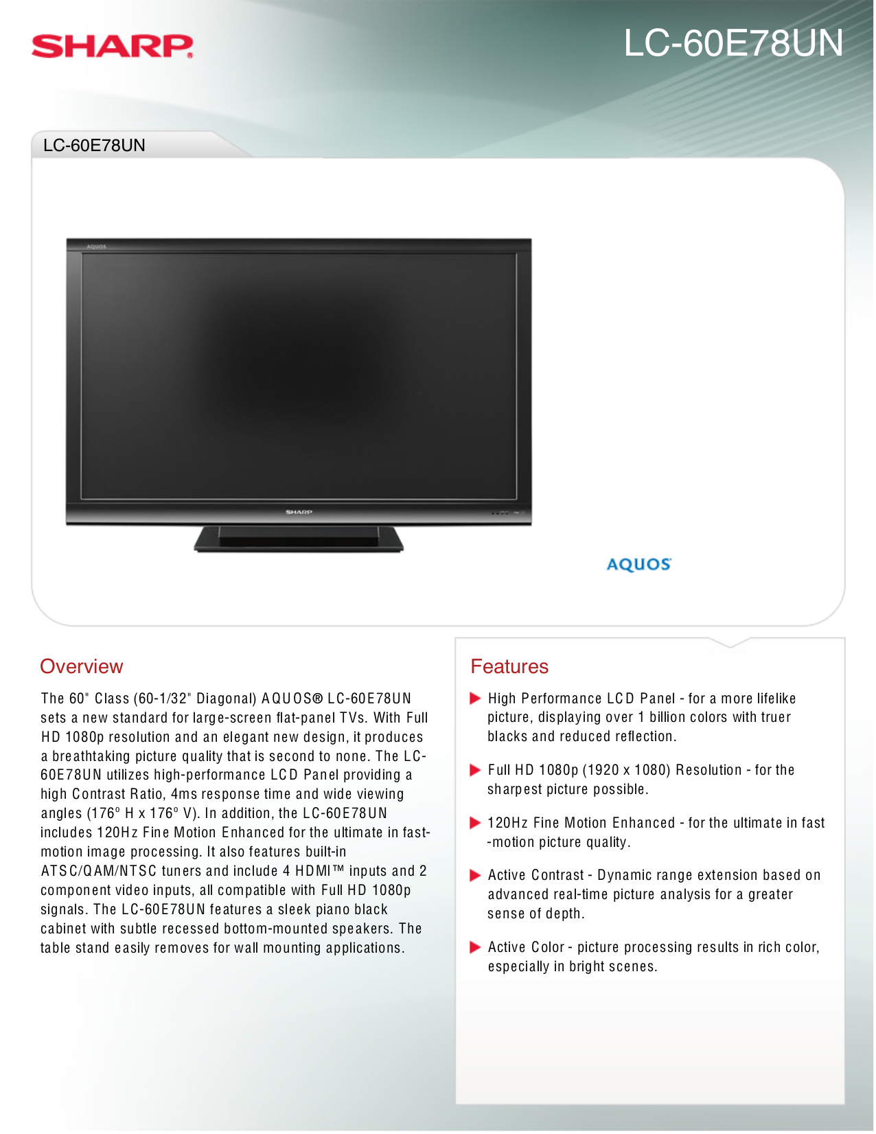 Sharp aquos lcd tv manual product user guide instruction download free pdf for sharp aquos lc 60e78un lcd tv manual rh umlib com sharp aquos led tv manual pdf sharp aquos led tv manual fandeluxe Images