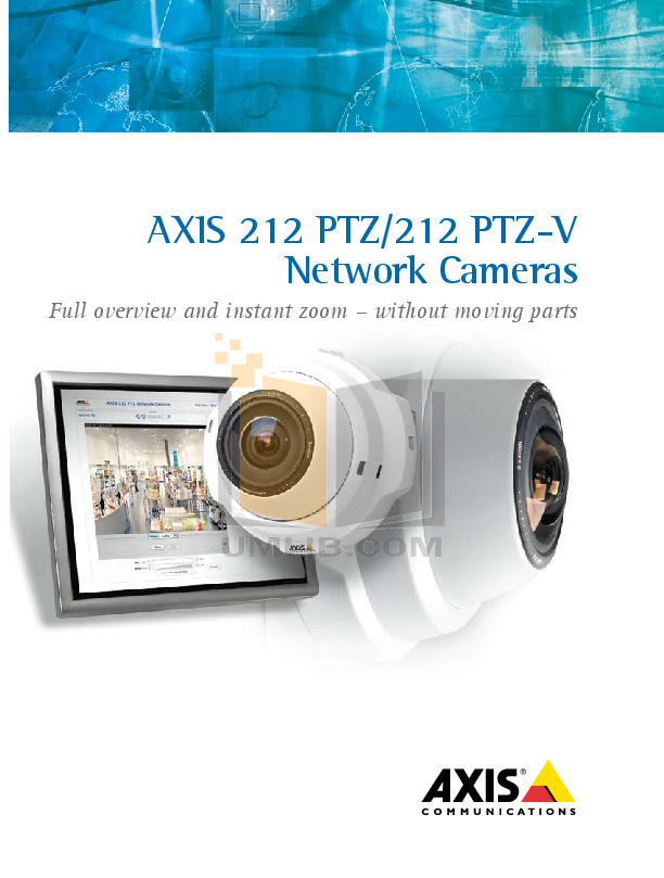 pdf for Axis Security Camera 212 PTZ manual