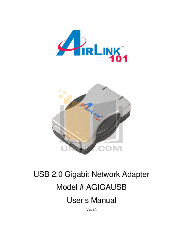 pdf for Airlink Other AGIGAUSB Adapters manual