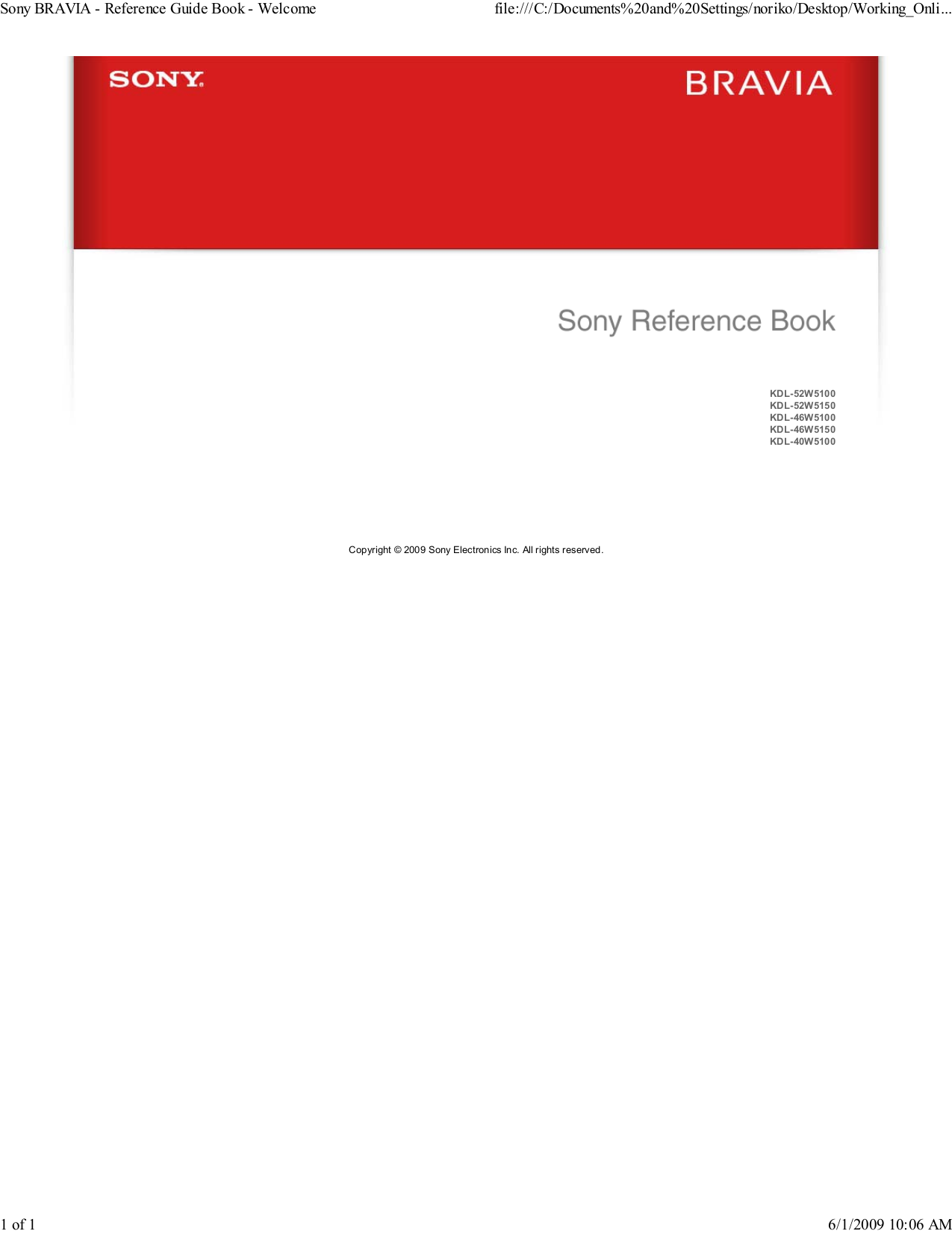 Sony tv manuals free pdf for sony tv bravia kdl 40w5100 manual fandeluxe Image collections