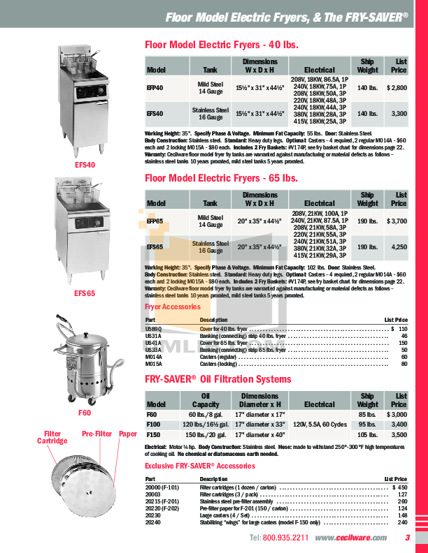 Cecilware Other HDEG3624 Griddles pdf page preview