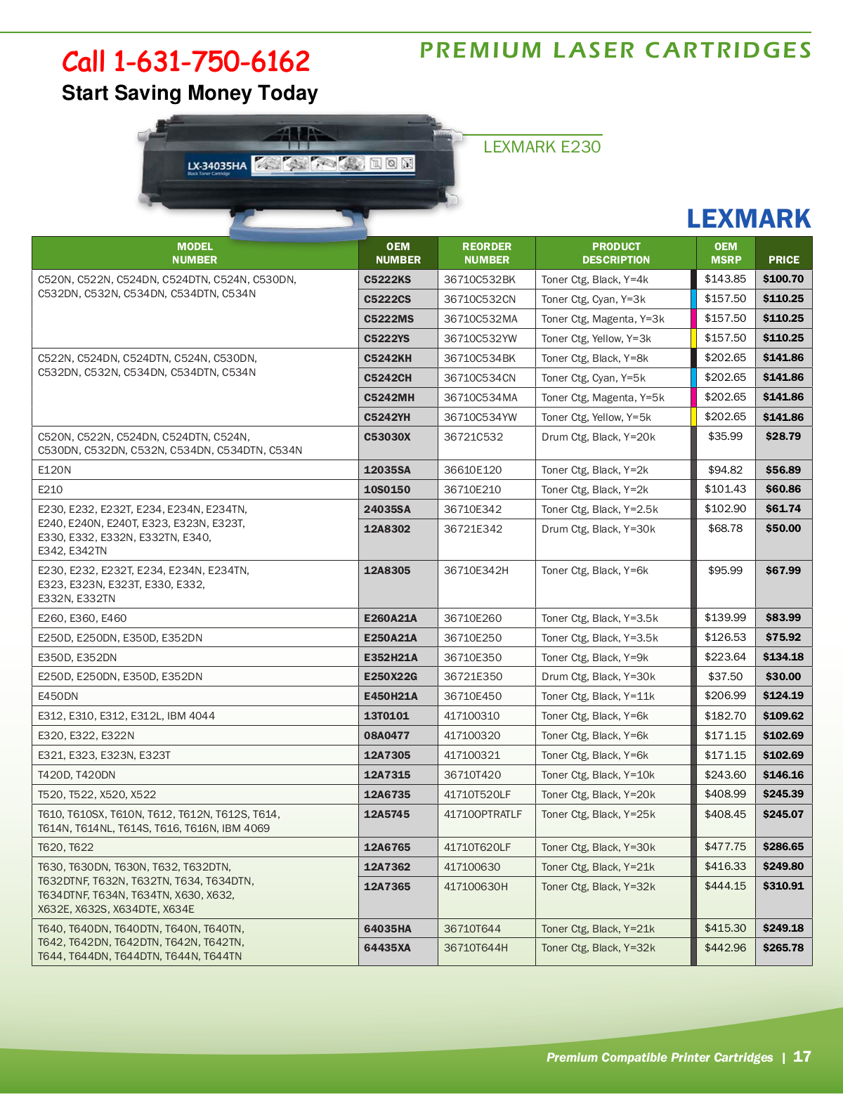 pdf for Lexmark Printer T630dn manual