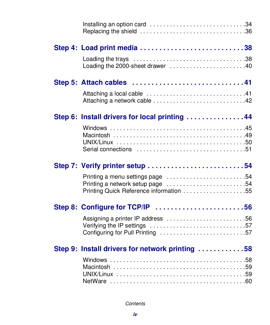 Lexmark Printer T630dn pdf page preview