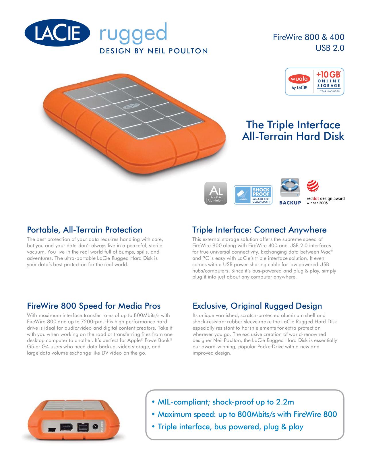 pdf for LaCie Storage 301832 manual