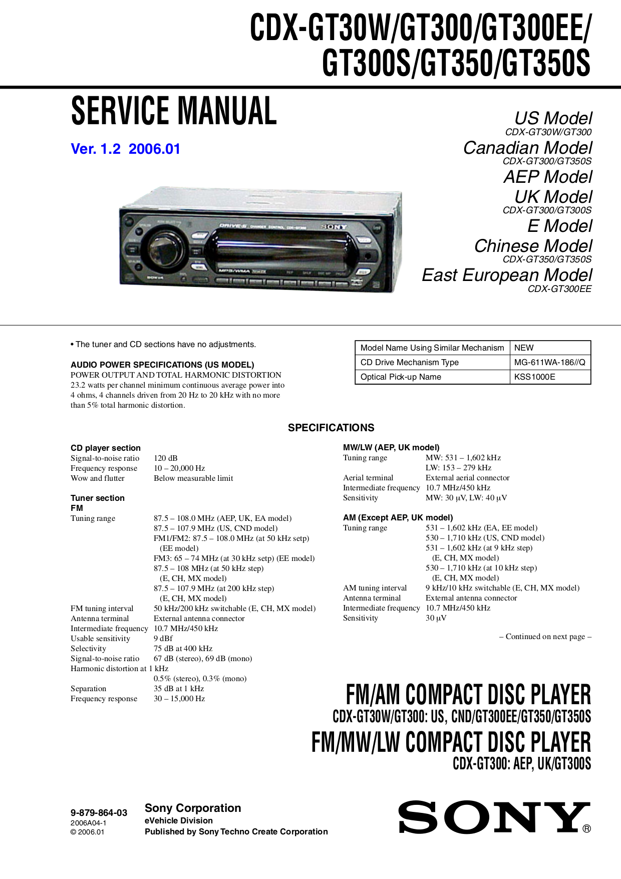 Sony Cdx Gt260mp Wiring Diagram