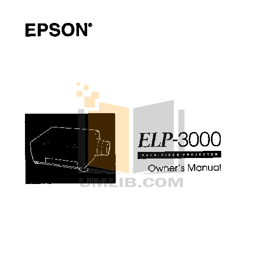 pdf for Epson Projector ELP-3000 manual