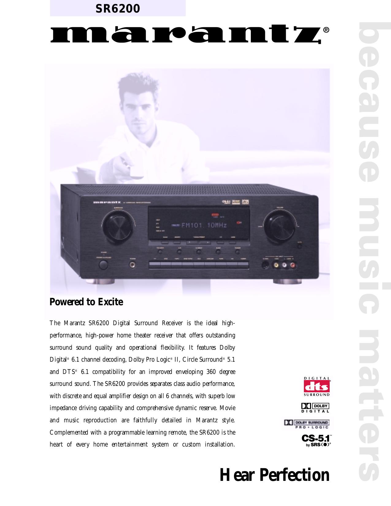 download free pdf for marantz sr6200 receiver manual rh umlib com Marantz Receivers On Craigslist Vintage Marantz