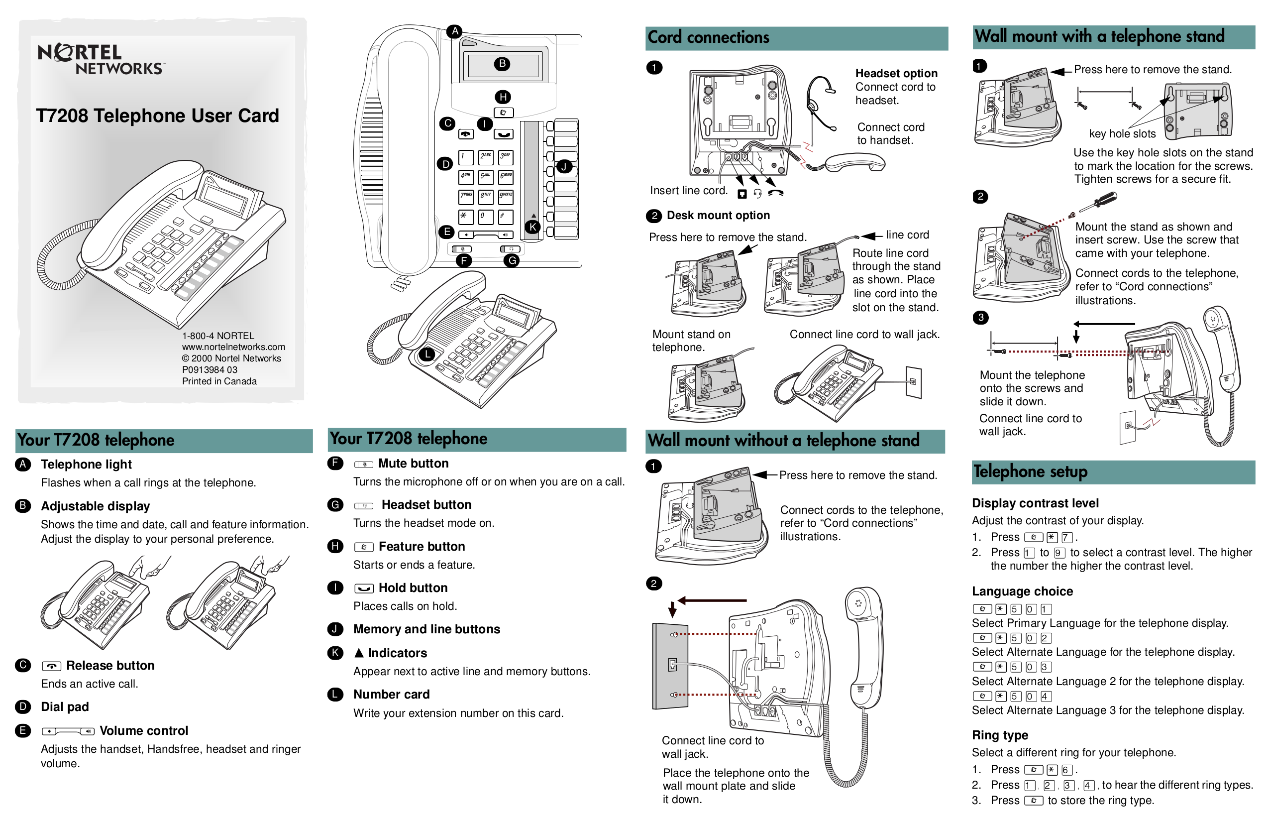 Nortel 7208 manual.