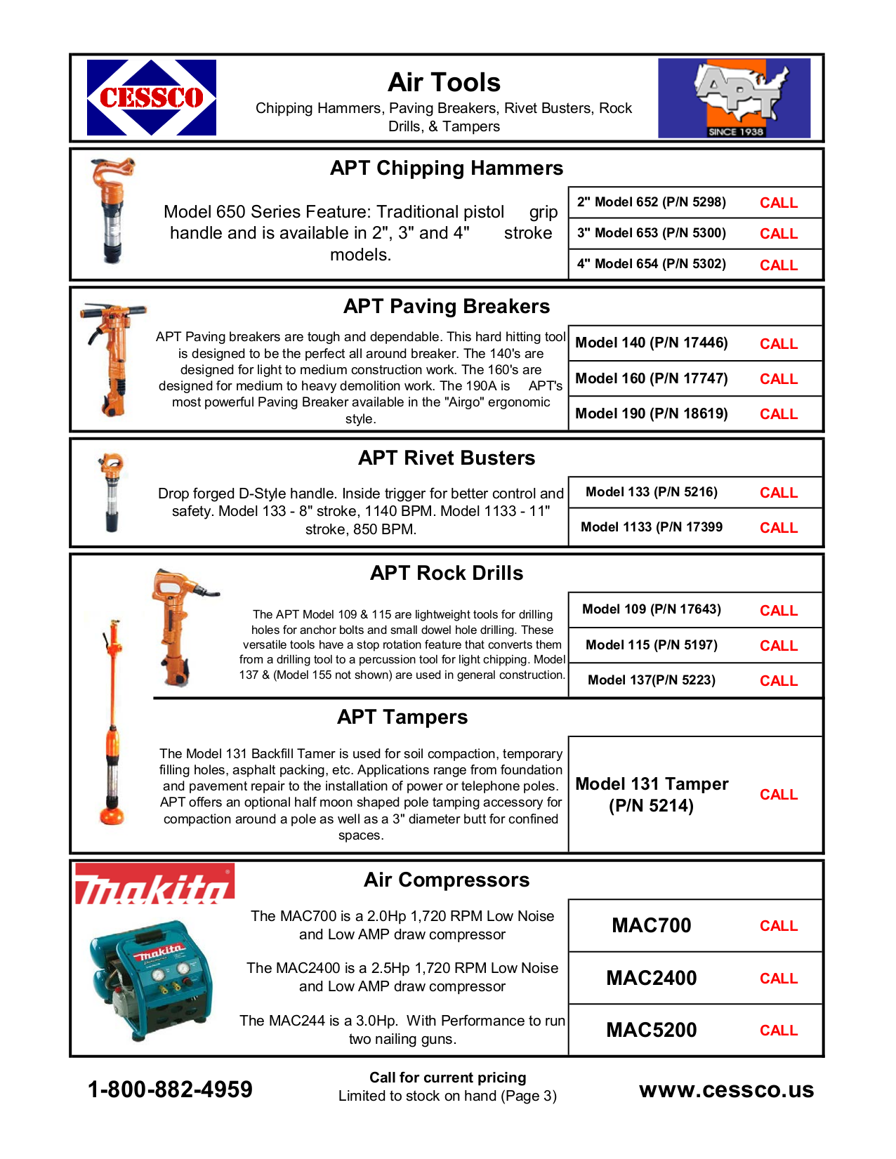 PDF manual for Makita Other MAC700 Air Compressor