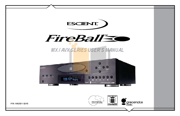 pdf for Escient Other Fireball MP-100 Media Players manual